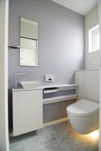 民間住宅 トイレ施工